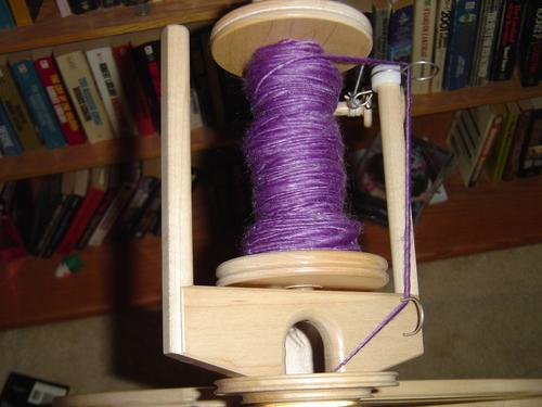 Purple Merino and Tencel Mix